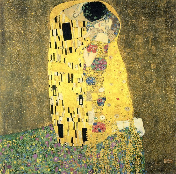 Gustav Klimt The Kiss 1908