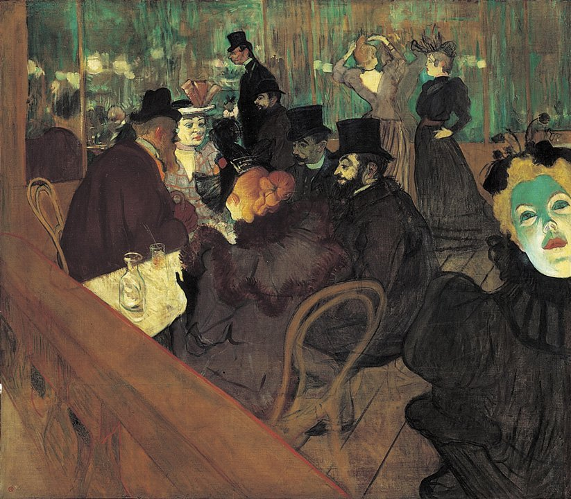 Toulouse Lautrec At the Moulin Rouge 1895