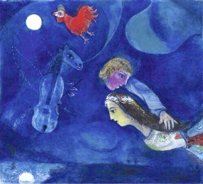 Marc Chagall, Blue lovers